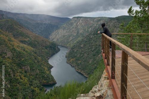 Vászonkép Santiorxo viewpoint over the Sil canyon