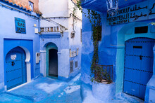 Streets Of Blue City Of Chefch...