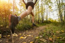 Low Section Of Woman Running O...