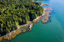 Aerial Drone View Of Coastal M...