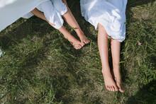 Feet Of Little Children Playin...
