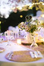 Wedding Dining Table. Table Number Nine. Rustic Wedding.