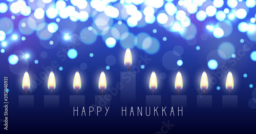 Photo Hanukkah greeting card with candles
