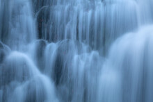 Waterfall On Via Ferrata Higing Route In Mala Fatra Mountain Range.