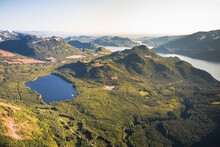 Aerial View Of Davis Lake Provincial Park And Stave Lake, B.C., Canada