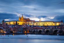 Evening View Of Prague Castle ...