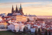 Sunrise View Of Prague Castle ...