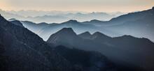Mountain Layers In North Cascades National Park, Washington, USA.