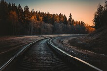 A Beautiful Railway Track Phot...