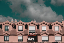 Row Of Terraced Houses In A Ni...