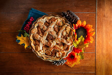 Apple Pie Decorated With Fall ...
