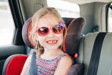 Young Girl Wearing Sunglasses ...