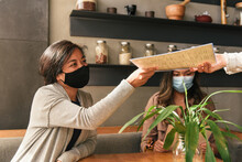 Woman Wearing Mask For Indoor ...