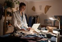 Female Dressmaker Selling Orde...