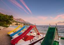 Croatian Pedalo Sunset At The Beach