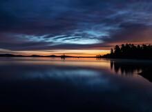Peaceful Quiet Sunrise Scene O...
