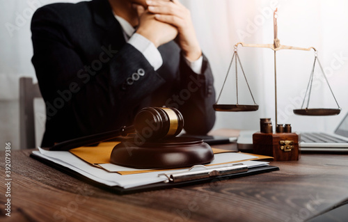 Justice and law concept Fotobehang