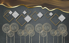 3d Modern Mural Wallpaper With...