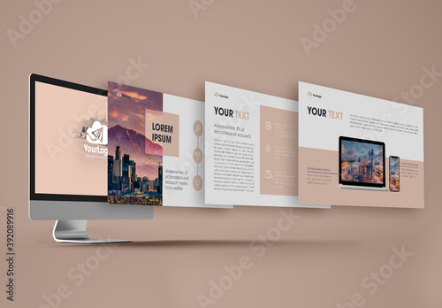 Pink Minimal Multipurpose Presentation Layout
