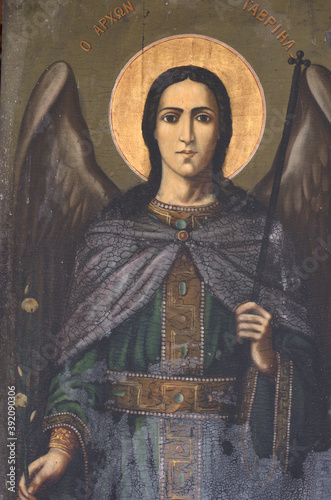 Fototapeta Archangel Gabriel, holding the lily of the Annunciation.