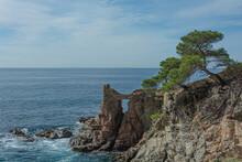 Seascape. Sea Rocky Shore With...