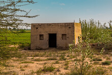 An Isolated, Basic Dwelling In The Thar Desert In Rajasthan, India