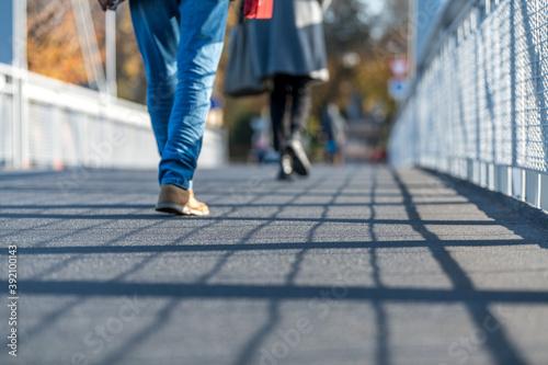 people walking on the street Fototapet