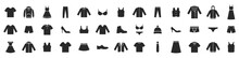 Clothes Icons Set Isolated On White Background. Clothing Icons. Vector