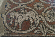 Detail Of The Mosaic On The Floor In The Abbey Of Ganagobie