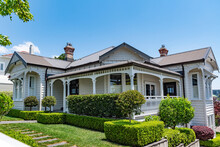 AUCKLAND, NEW ZEALAND - Dec 05, 2019: Houses In Central Auckland
