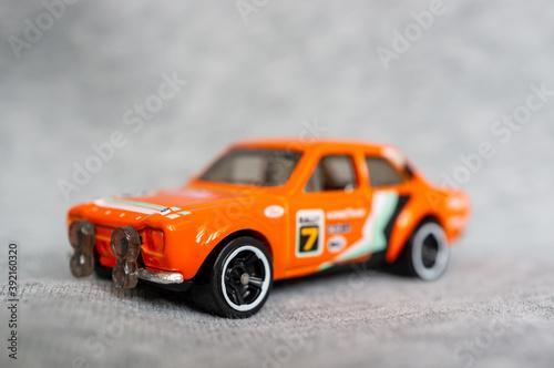 фотография POZNAN, POLAND - Oct 31, 2020: Mattel Hot Wheels Ford Escort sport car