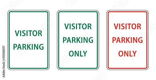 Wallpaper Mural Reserved parking sign for visitors. visitors parking sign vector