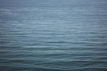 View Of A Calm Dark Blue Ocean