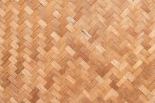 Handcraft Of Bamboo Weave Texture For Background.