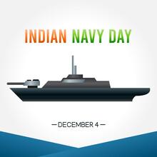 Vector Graphic Of Indian Navy Day Good For Indian Navy Day Celebration. Flat Design. Flyer Design.flat Illustration.