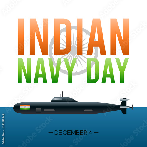 Valokuvatapetti vector graphic of indian navy day good for indian navy day celebration