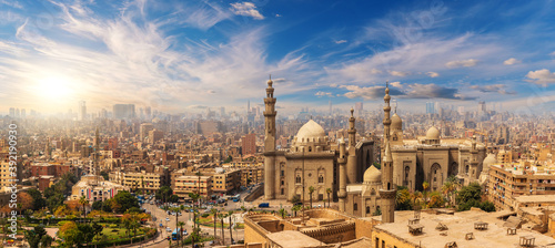 Papel de parede Mosque and Madrasa of Sultan Hassan at sunset, Cairo Citadel, Egypt