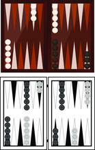 Traditional Backgammon Game Vector Illustration