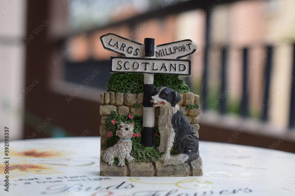 Fototapeta Bobby the faithful dog figurine from Edinburg Scotland
