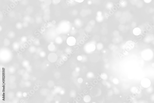 Fototapety, obrazy: white blur abstract background with white bokeh (digital paint), Christmas background