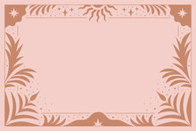 Vector Illustration In Simple Modern Style - Horizontal Abstract Background And Graphic Print - Decorative Frame With Copy Space Fo Text