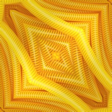 Patterns And Design In Square Format Of Vivid Yellow Coloured Industrial Hose