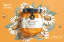 Engraving Honey Ad Template