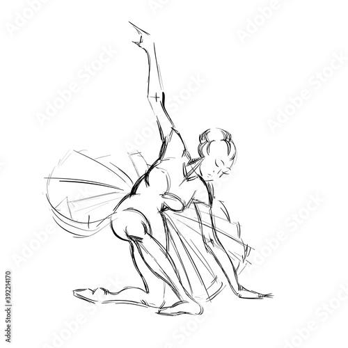 A Young Ballerina Fototapete