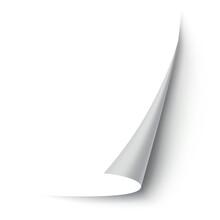 Curled Paper Corner. Curve Pag...