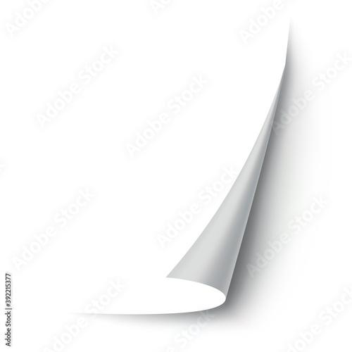 Obraz na plátne Curled paper corner