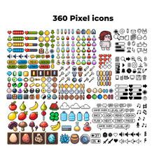 Set Of 8-bit Pixel Graphics Ic...