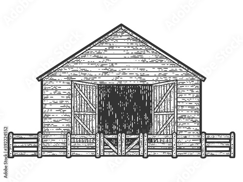 Photographie Sheepfold, barn for farm animals