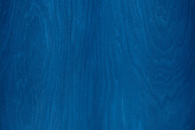 Blue Wood Texture Background. Wood Painted With Blue Paint.