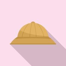 Safari Hunting Big Hat Icon. Flat Illustration Of Safari Hunting Big Hat Vector Icon For Web Design